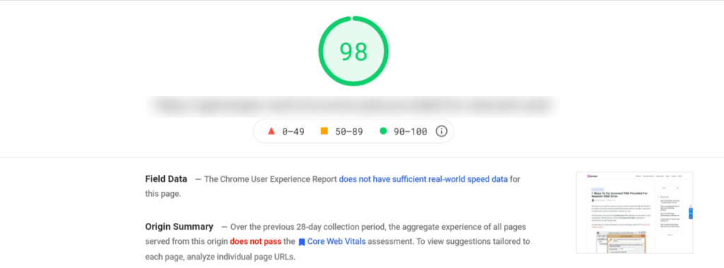 PageSpeed-Insight-test